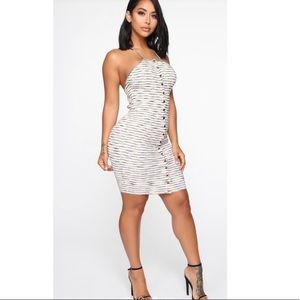 *NWT* Stripe Halter Bodycon Dress (S)